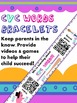 CVC Words Homework {Bracelet with QR Codes}