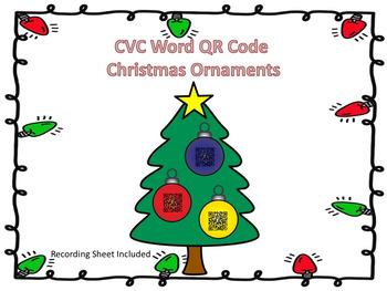 CVC Words QR Code Christmas Ornaments