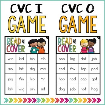 CVC Words Read & Cover BUNDLE {Small Group Games}