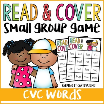 CVC Words Read & Cover {Small Group Game}