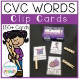 CVC Words Read and Clip Cards