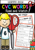 CVC Words ~ Read and Match