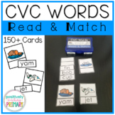 CVC Words Read and Match Cards