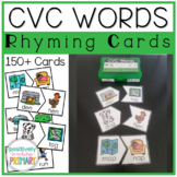 CVC Words Rhyming and Matching Cards