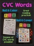 CVC Words Roll (Short Vowels Game Fun Blending Literacy Center)