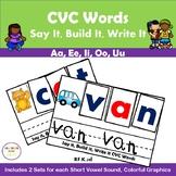 CVC Words Say It, Build It, Write It