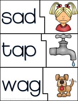 CVC Words - Self Correcting Matching Puzzles