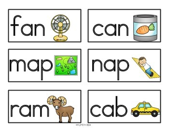 CVC Words Sentence Builders! Short Vowel A