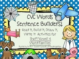 CVC Words Sentence Builders! Short Vowel E