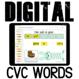 CVC Words Sentences {Animals Slinky} for Google Classroom™