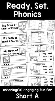 Short Vowels CVC Short A Interactive Activities (First Grade Phonics)