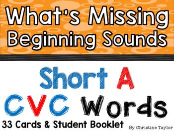 CVC Words:  Short A Beginning Sounds Cards