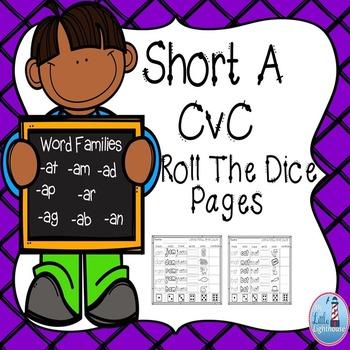 CVC Words (Short A Roll The Dice)