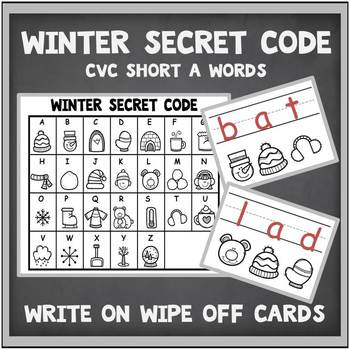 CVC Words Short A-Teaching Resource with Worksheets Secret Code