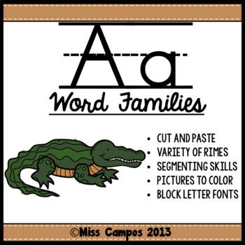 CVC Words : Short A Word Families