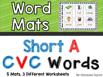 CVC Words:  Short A Word Mats
