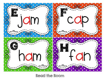 CVC Words:  Short A Write and Read the Room Activities