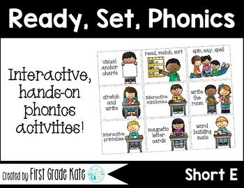 Short Vowels CVC Short E Interactive Activities (First Grade Phonics)