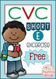 Free CVC Word Exercise-Short E