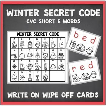 CVC Words Short E-Teaching Resource with Worksheets Secret Code