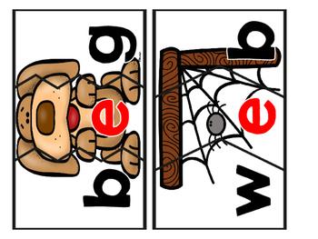 CVC Words:  Short E Three Piece Puzzles