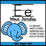 CVC Words : Short E Word Families