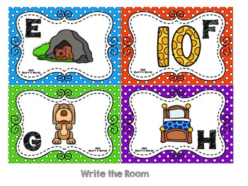 CVC Words:  Short E Write and Read the Room Activities