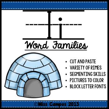 CVC Words : Short I Word Families
