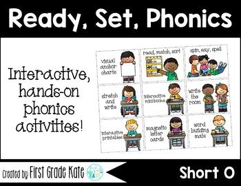 Short Vowels CVC Short O Interactive Activities (First Grade Phonics)