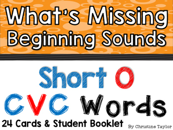 CVC Words:  Short O Beginning Sounds Cards