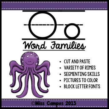 CVC Words : Short O Word Families