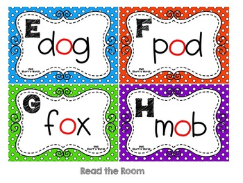 CVC Words:  Short O Write and Read the Room Activities