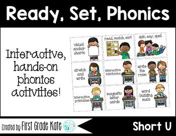 Short Vowels CVC Short U Interactive Activities (First Grade Phonics)
