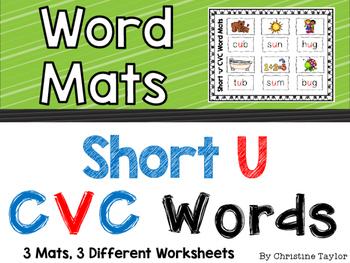 CVC Words:  Short U Word Mats