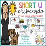 Short U CVC Words Clip Cards