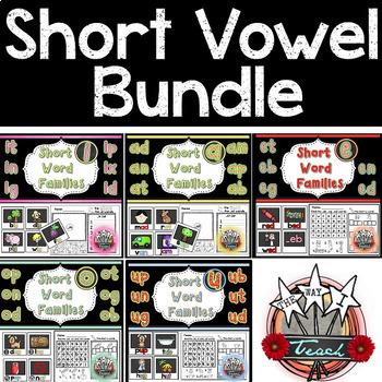 Short Vowels Words BUNDLE
