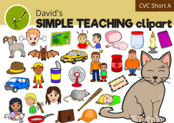 CVC Words Short Vowel Clipart - Short A