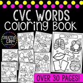 CVC Words: Short Vowel Coloring Pages {Made by Creative Clips Clipart}