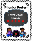 CVC Words Short Vowel Sound Posters