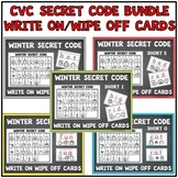 CVC Words Short Vowels- Secret Code Bundle Write on Wipe O