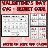 Valentine's Day Activities CVC Words Short Vowels Write On