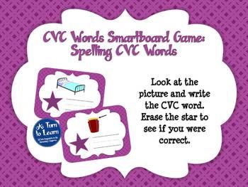 CVC Words: Spelling CVC Words Game (Smartboard/Promethean Board)