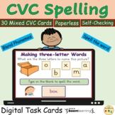 CVC Word Work Spelling Phonics BOOM Cards™ Digital Task Ca