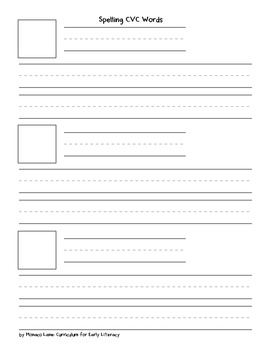 CVC Words- Spelling Sheet