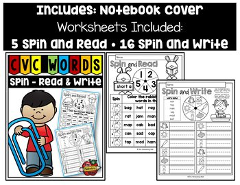 CVC Words Spin - Read and Write