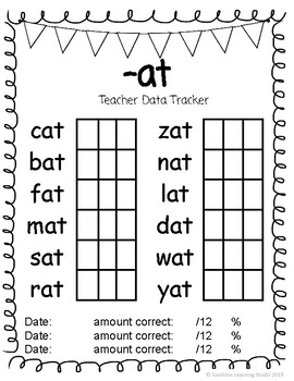 CVC Words Student Readers and Data Trackers