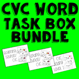 CVC Words Task Box Bundle