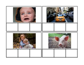 CVC Words Task Cards- 3 Levels- Great for Special Education