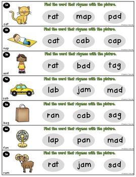 CVC Words Task Cards Bundle