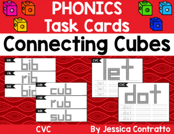 CVC Words Task Cards: Connecting Cubes